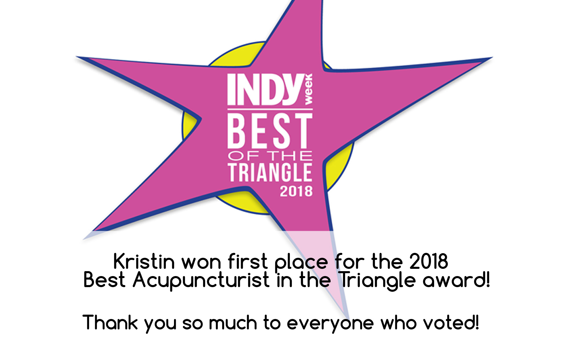 Indy Best Acupuncturist in the Triangle Award